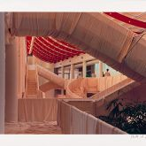 "Christo ""Museum Würth Wrapped Stairs """