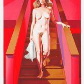 """Mel Ramos """"Nude descending a staircase"""""""