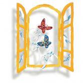 """David Gerstein """"Open window with butterflies"""""""
