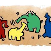 "Otto Waalkes ""Hommage an Keith Haring"""