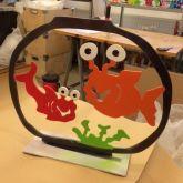 """Patrick Preller """"Aquarium mit zwei Fischen """""""