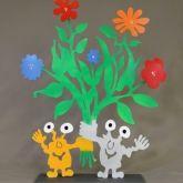 """Patrick Preller """"Blumenstrauss mit zwei Monstern"""""""