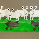 """Patrick Preller """"Schafe auf dem Sockel"""""""