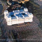 """Christo """"Reichstag Luftaufnahme der Westfassade"""""""