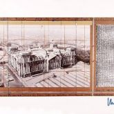 """Christo """"Reichstag X mit Silberfolie"""""""