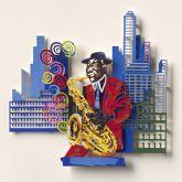"David Gerstein ""Sax Player (Papercut)"""