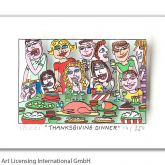 "James Rizzi ""Thanksgiving Dinner"""