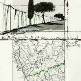 "Christo ""The Curtains / Manciano (1989) """