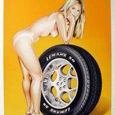 """Mel Ramos """"Tyra Tire"""""""