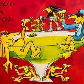 "Udo Lindenberg ""Cool im Pool 2020 Siebdruck"""