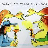 """Udo Lindenberg """"Ich glaub Sie haben einen Vogel Siebdruck 2020"""""""