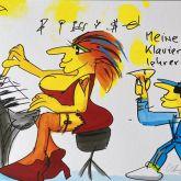 """Udo Lindenberg """"Meine Klavierlehrerin (Siebdruck)"""""""
