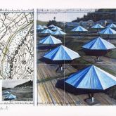 "Christo ""Umbrellas Blue II"""