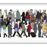 "Andreas Lutherer ""Walking-People III"""