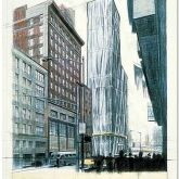 """Christo """"Wrapped Building, Project for No 1 Times Square"""""""