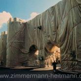 "Christo ""Wrapped Roman Wall 1974"""