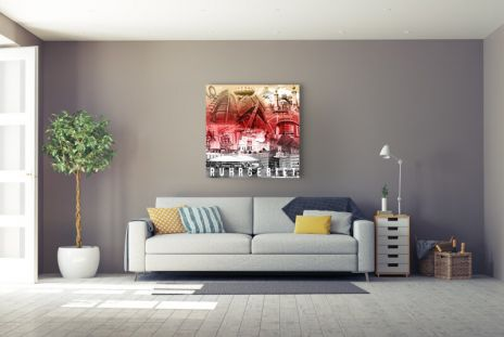 "Fritz Art ""Ruhrgebietscollage schwarz weiss rot"""