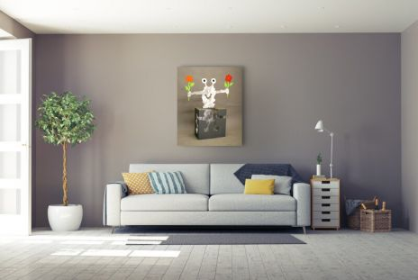 "Patrick Preller ""Kubus mit Blumen"""