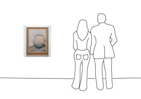 "Christo ""Wrapped Globe (Eurasian Hemisphere)"""