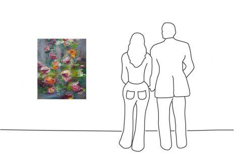 "Dagmar Vogt ""Blüten am See I"""