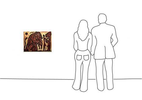 """A. R. Penck """"Erinnerung unbekannt"""""""
