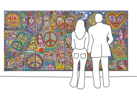 "James Rizzi ""Give Peace A Chance I – IV"""