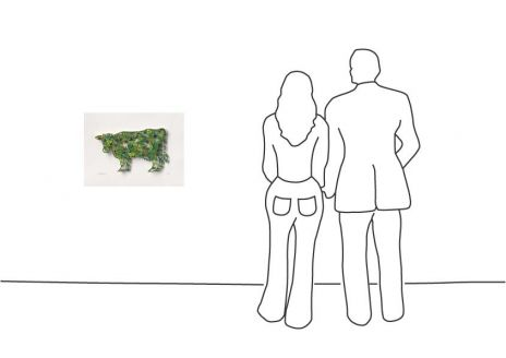 "David Gerstein ""Green Cow (Papercut)"""