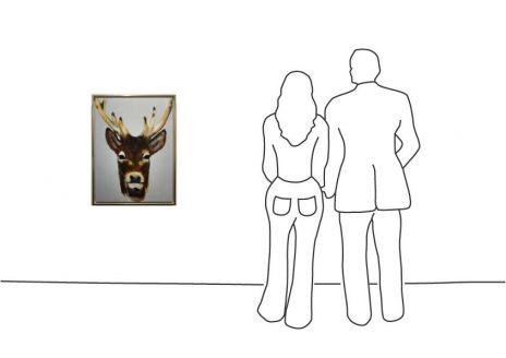 "Diverse Künstler ""Christiane Stock – Hirsch 80 x 60 cm"""