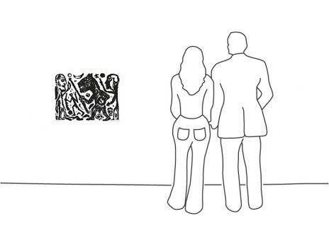 "A. R. Penck ""Homer u. Aristoteles, 1 Blatt (2)"""