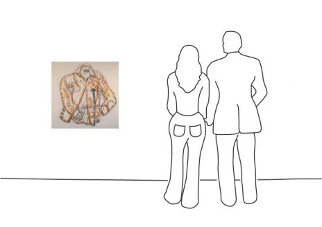 """Frank Böhmer """"Lagerfeld Shirt Wallsculpture"""""""
