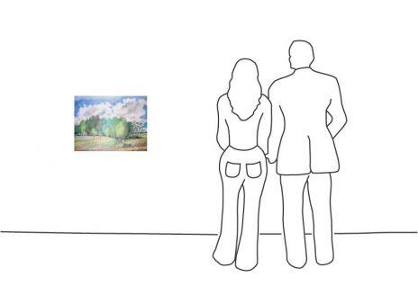 """Günter Grass """"Landschaft mit Birken"""""""