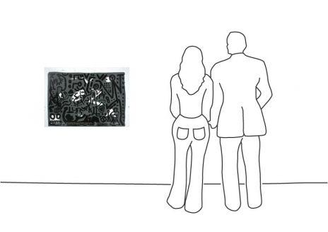 """A. R. Penck """"Lausanne 4 Hände auf den Tisch"""""""