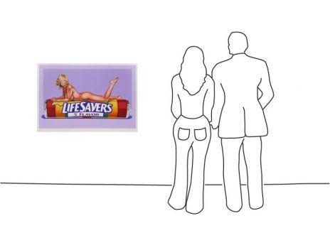 "Mel Ramos ""Five Flavor Fannie (Life Savers)"""