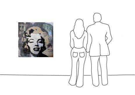 "Michel Friess ""Marilyn Newspaper Collage"""