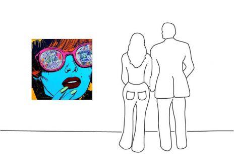 "Michel Friess ""Comic Woman"""