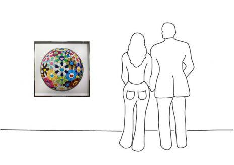 "Takashi Murakami ""Flower Ball – gerahmt"""