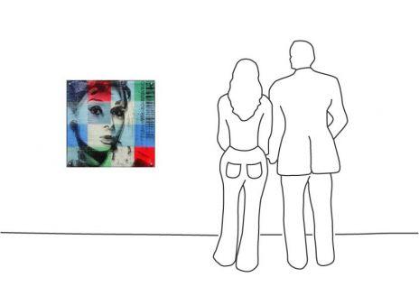 """Paul Thierry """"Audrey Hepburn (blau)"""""""
