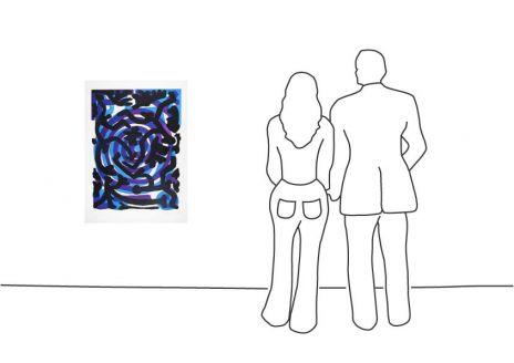 "A. R. Penck ""Praxis (Blau Lila) III"""