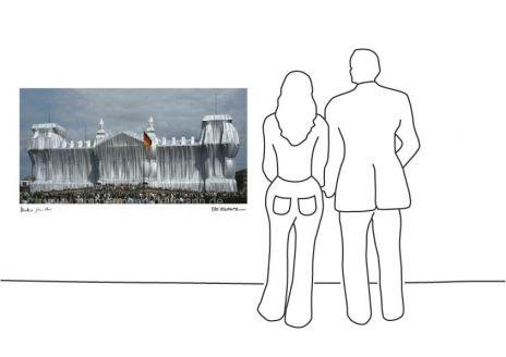 """Christo """"Reichstag Westfassade"""""""