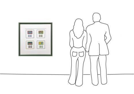 """James Rizzi """"Briefmarken Deluxe-Ausgabe – Gerahmt"""""""
