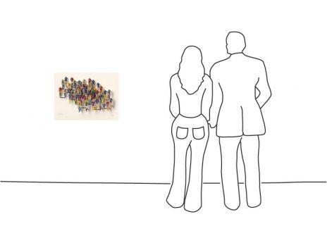 "David Gerstein ""Tour de France – Horizontal (Papercut)"""