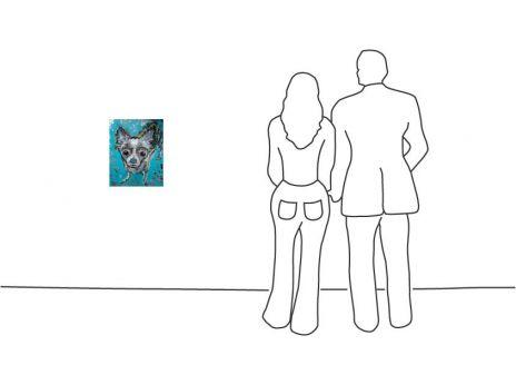 "Lila Mint ""Trauriger Hund"""