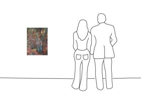 """Günter Grass """"Waldlandschaft I"""""""