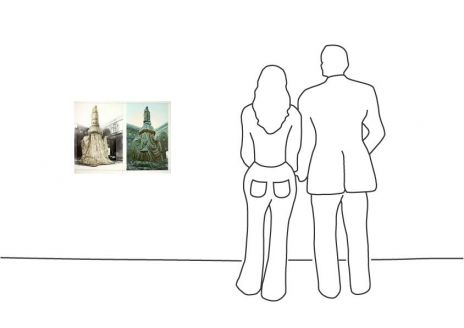 "Christo ""Wrapped Monument Leonardo, 2 B."""
