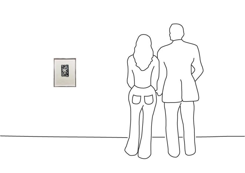 "A. R. Penck ""Holzschnitt im Rahmen"""