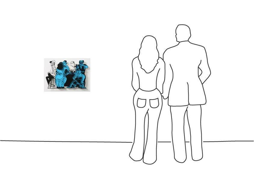 "David Gerstein ""Bar Series - Bar Scene (blue)"""