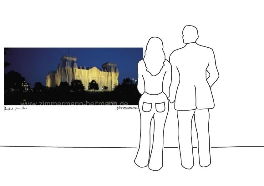 """Christo """"Reichstag Spreeblick nachts"""""""