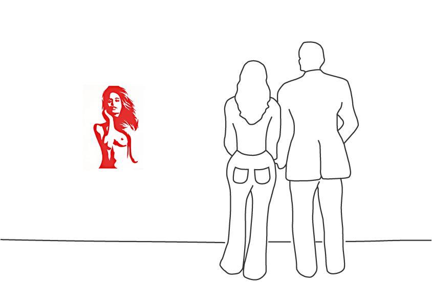"""Werner Berges """"Die Farben der Frauen – La Roja"""""""
