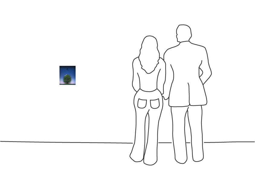 "Volker Kühn ""Dies ist kein Magritte I"""
