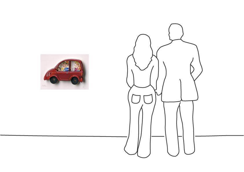 "David Gerstein ""Family Car (Papercut)"""